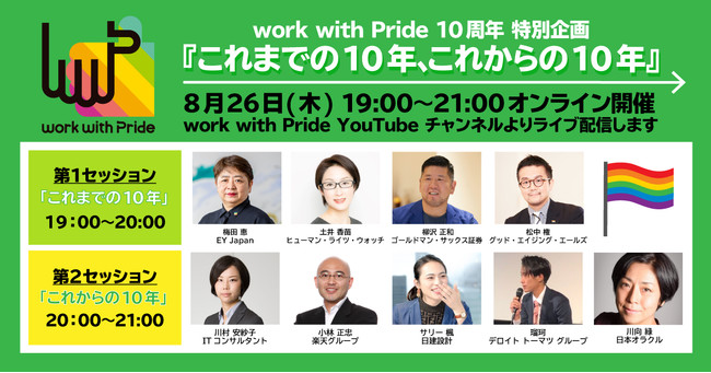 PRIDE指標2021の応募は8月31日まで! 「work with Pride」10周年特別企画のトークセッションが26日にオンライン開催